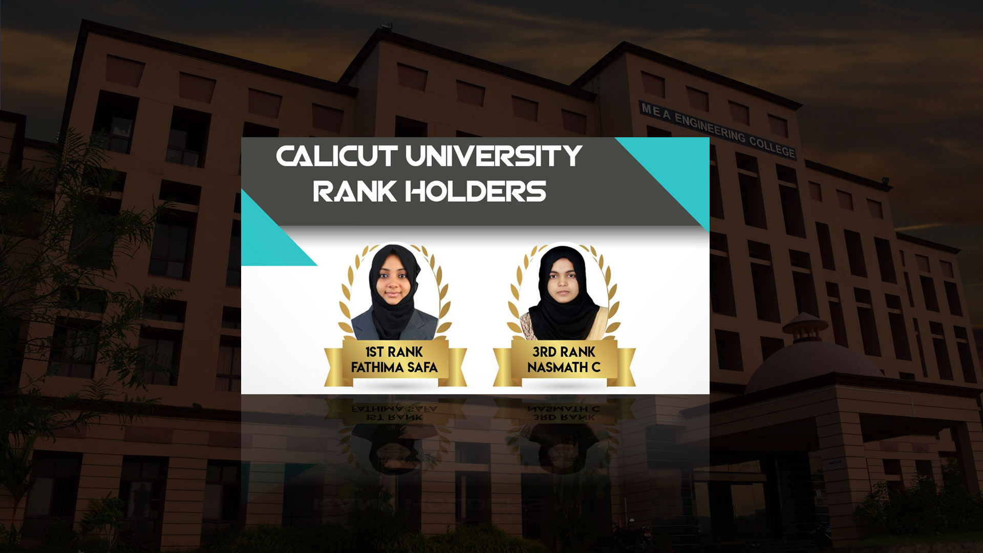 Rank Holders from Department of IT | 2018