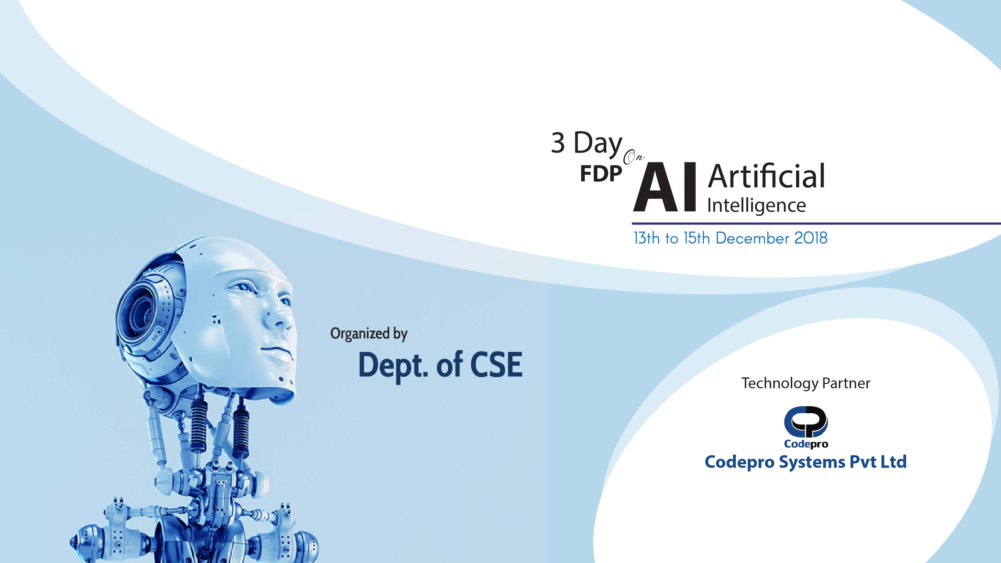Three-Day Workshop on Artificial Intelligence