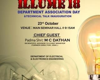 ILLUME'18- EEE Department association day and technical talk inauguration on 23rd October 2018,Tuesday