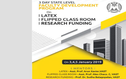FACULTY DEVELOPMENT PROGRAMME on LATEX | FLIPPED CLASS ROOM | RESEARCH FUNDING