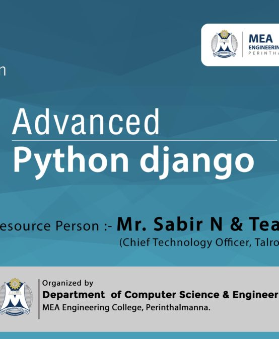 2 Day Workshop on  Advanced Python django