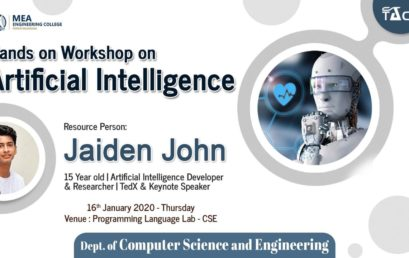 Hands on workshop on Artificial Intelligence