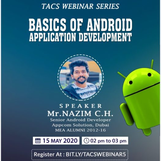 Basics of Android Application Development | Webinar on 15th May 2020
