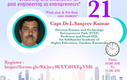 Creativity and Innovation for post Engineering as Entrepreneures | 21st May 2020