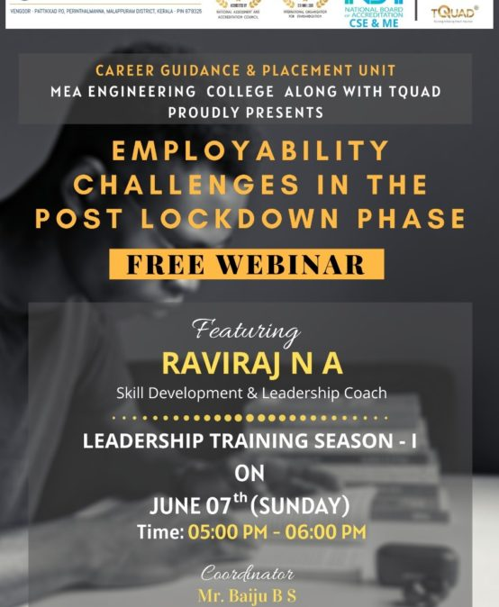 Webinar on | Employability challenges in the post lockdown phase (7th June 2020)