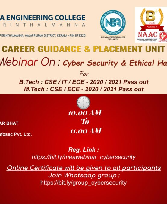 Webinar on 'Cyber Security & Ethical Hacking'