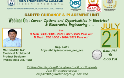 Webinar on Career options & Opportunities in Electrical and Electronics Engineering