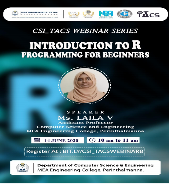 """Webinar On  """"Introduction to R Programming for  Beginners"""""""