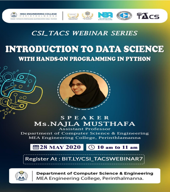 """Webinar On """"Introduction to Data Science"""""""