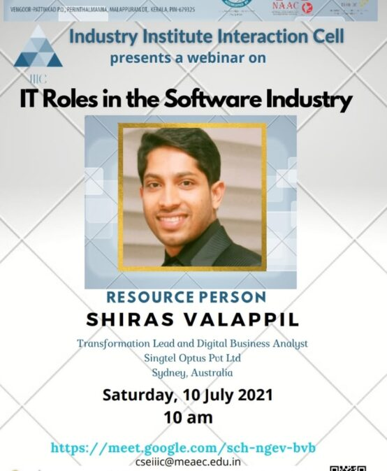 """Webinar on """"IT Roles and Responsibilities in Software Industry"""""""